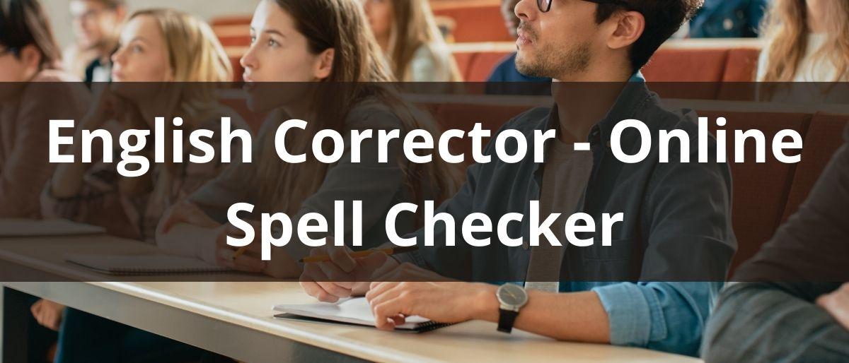 English Corrector - Online Spell Checker